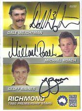 2010 APCS 1980 Richmond Premiership Triple Signature Roach Weightman 80/80 2017