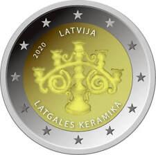 NEU!!! 2020 LETTLAND 2 Euro Latgales Keramika UNZ