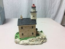 Harbour Lights Lighthouse Great Captain Island Connecticut #114. Coa 1991