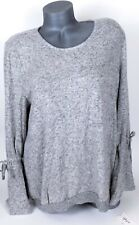 Style&Co XXL Pullover Sweater Heather Gray Scoop Neck Tie Bell Sleeves $49.50