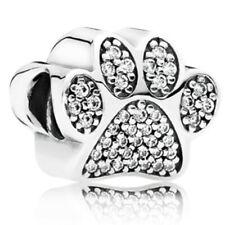 1pcs Silver CZ European Charm Beads Fit 925 Necklace Bracelet Pendant Chain J508