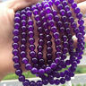 Natural 8mm Purple Jadeite Jade Gemstone Round Loose Beads 15'' Strand