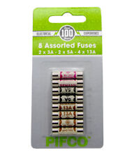 8 x Assorted Mixed Fuses 3amp 5amp 13amp Domestic Household Mains Plug Fuse