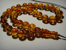 Amber Pressed Islamic 33 Prayer round Beads Genuine Baltic  20,08gr. B-411