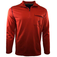 NAUTICA Mens Sweater Zip Up Pullover Jacket Casual Athletic Soft Fabric NEW