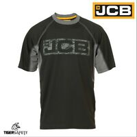 JCB Trentham Heavyweight Mens Black Short Sleeve T-Shirt Work Tee Crew Neck BNWT