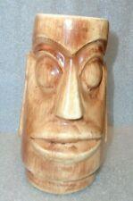 vintage Easter Island head tiki bar mug advertising 1000 Islands Club NY