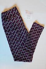NEW LuLaRoe One Size leggings slate blue dark purple print pattern NWT OS LLR
