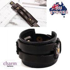 Rock Punk genuine Leather Bracelet Bangle cuff Wristband fashion Jewelry