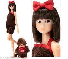 """Sekiguchi momoko Wake Up Doll + Monchhichi 40th anniversary """"RED""""  NRFB  neufs"""