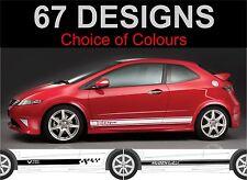 Honda Civic Typ R Typ S Mugen Seite Streifen Aufkleber