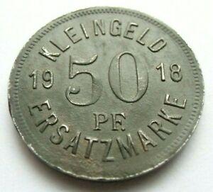 (336) NOTGELD COIN   50 PFENNIG  -  1918 - CITY OF HALL