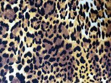 LEOPARD Print Fabric Fat Quarter Cotton Craft Quilting Big Cat Pattern