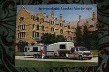 LONDON AIRE 1983 Travel Trailer Motorhome Camper dealer brochure - English
