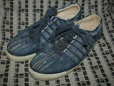 Vtg 80S Womens 8.5 Kswiss Acid Washed Stone Wash Denim Jean Tennis Sneaker Shoes