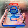 For Huawei Mate 20 P20 Pro Ultra Thin Plating Soft Silica Cover Case+Ring Stand