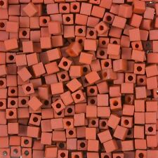 Miyuki Terracotta 4mm Square (Cube) Seed Beads 20g (H78/10)