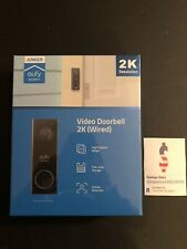 eufy Security, Wi-Fi Video Doorbell with 2K HD, 2-way audio, No Monthly Fees NEW
