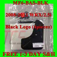 Rally Armor 08-10 Subaru Impreza WRX / 2.5​i Basic Mud Flaps Kit w/ BLACK Logo