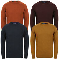 Tokyo Laundry Men's Jumper  Zig-Zag Knit Wool Mix Crew Neck Knitted Sweater Top