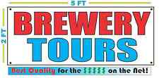 BREWERY TOURS Banner Sign NEW Larger Size for Wine Country Liquor Store BEER