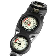 Mares Mission 3 Gauge Console Depth Gauge Compass Scuba Diving Gear