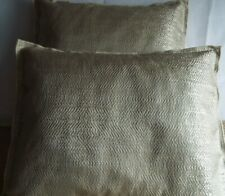PAIR OF 15 X 20 INCH BOSTER CUSHIONS FOR £8.99 PLAIN BEIGE DESIGN