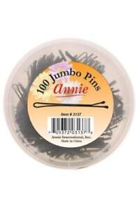 Annie Jumbo Hair Pins 23/4'' 100 Count Black #3137