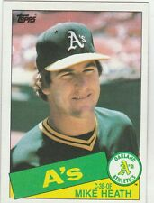 FREE SHIPPING-MINT-1985 (ATHLETICS) Topps #662 Mike Heath