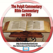 Pulpit Commentary Bible Commentaries Rare Vintage Collection Books DVD