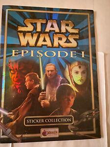 Star Wars Episode 1 Phantom Menace Merlin Sticker Art Book Complete
