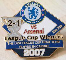 CHELSEA v ARSENAL 2007 Victory Pins LEAGUE CUP FINAL Badge Danbury Mint