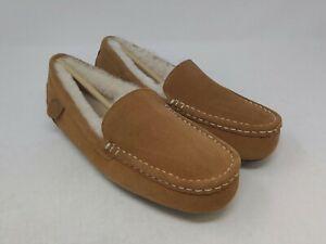 Dearfoams Women's Chestnut Fireside Moccasin Slippers Size 10 US