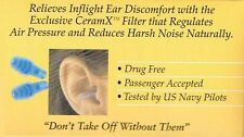 ==>One Pair EARPLANES ADULT HYPOALLERGENIC EAR PLUGS , FLIGHTS SILICONE
