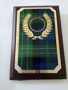 "Award Plaque, 4x6"" approx. Tartan Design on Wood"