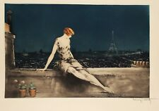 Louis Icart - Mimi Pinson original hand signed drypoint etching on paper with aq