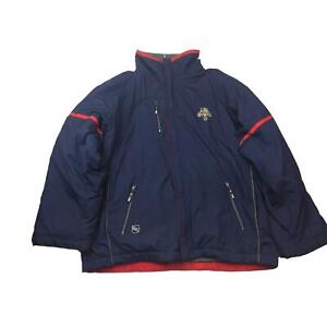 Florida Panthers Jacket Mens XL Navy Red Fleece Lined Zip Center Ice CCM