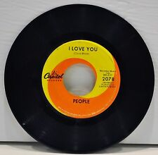 """PEOPLE """"I Love You / Somebody Tell Me My Name"""" 60's 45RPM Single - Capitol 2078"""