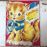 Vintage Cat Puzzle Greeting Card Vintage Kitten Giant Card