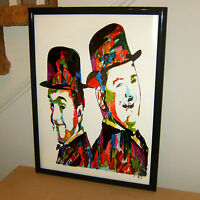 Laurel & Hardy Stan Laurel Oliver Hardy Celebrities Poster Print Wall Art 18x24