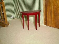 Casa De Muñecas Muebles, 1/12th Escala Caoba Mesa Lateral bu212m