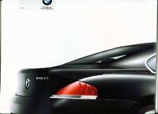 BMW 6 SERIES COUPE SALES BROCHURE LATE 2003 FOR 2004 MODEL YEAR