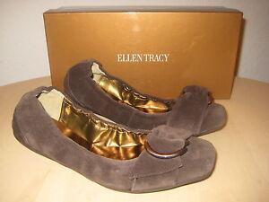 Ellen Tracy Shoes Size 6.5 M Womens New Gabby 210020 Chocolate Ballet Flats