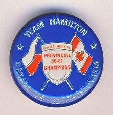 CANADA vs. CZECHOSLOVAKIA Ice Hockey TEAM HAMILTON PIN Button BADGE