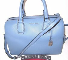 Michael Kors Denim Blue Leather Medium Mercer Satchel Duffle Bag NWT $298