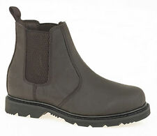 Mens Boys Leather Chelsea Dealer Boots. Goodyear Welted Sole. Sizes 6-12UK