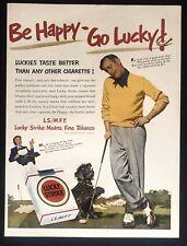 LUCKY STRIKE 205 Tobacco Golf Sport Art 1951 Vintage Print Ad