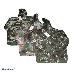 Mens Camouflage Fleece Fur Lined Hoodie  Coat Zip Up Jacket   S,M,L,XL,XXL