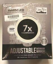 LED Makeup Mirror - Adjustable 7x Magnification Lighted Makeup Mirror Vanity