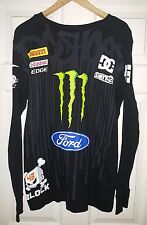 DC Shoes Mens MONSTER Energy Ken Block FORD KB 43 LARGE Dirt Thermal Shirt LS